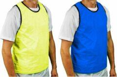 Precision Trainingshesje Bib Polyester Geel/blauw 4-9 Jaar
