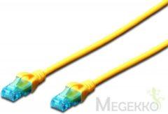Digitus Professional DK-1512-005/Y RJ45 Netwerk Aansluitkabel CAT 5e U/UTP 0.5 m Geel Verdraaide paren