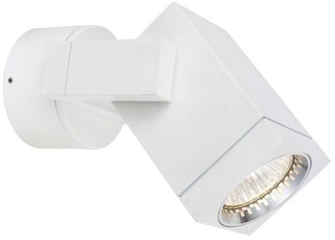 Afbeelding van Witte Buitenlamp Wandlamp Downlighter Cubic - Aluminium - Wit - KS Verlichting