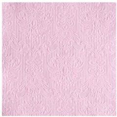 Ambiance servetten Luxe servetten barok patroon roze 3-laags 15 stuks
