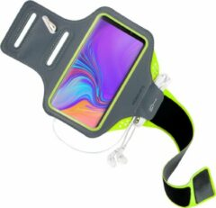 Groene Mobiparts Comfort Fit Sport Armband Samsung Galaxy A9 (2018) Neon Green