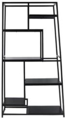 Zwarte Leitmotiv Book shelf Fushion black