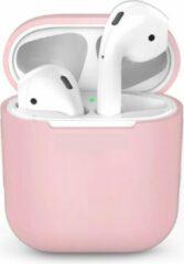 DrPhone Siliconen Airpod Case – Geschikt voor Airpod 1 & 2 – Bescherming tegen Val & Stootschade – Roze