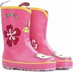 Roze Kidorable Regenlaarzen Meisjes Regenlaarzen Maat 21