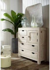 Highboard NATURE WHITE Massivmoebel24 white stone