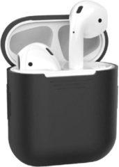 BTH Siliconen Bescherm Hoesje Case Cover voor Apple AirPods 1 Hoes Zwart