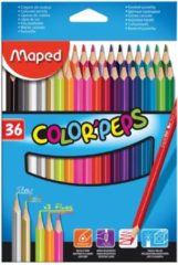 Blauwe Maped Office Color'peps kleurpotlood x 36