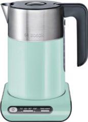 Groene BOSCH-waterkoker Styline TWK8612P, 1,5 liter, mint turquoise/black grey