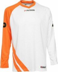 Patrick Victory Voetbalshirt Lange Mouw - Wit / Oranje | Maat: M