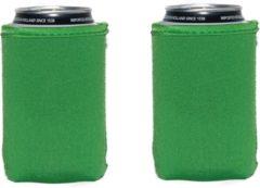 Koozie.eu 4 stuks Groene koelhoud hoesjes voor blikjes - Appel groen - 4 stuks