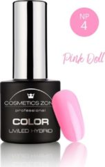 Roze Cosmetics Zone UV/LED Hybrid Gel Nagellak 7ml. Pink Doll NP4