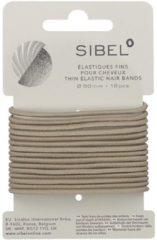 Sibel - Thin Elastic Hair Bands - Blonde - 16 Stuks