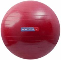 Matchu Sports Fitnessbal - Anti Burst - Inclusief pomp - Ø 55 cm - Rood