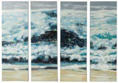 Bilder-Set, 4-tlg. miaVILLA natur/blau