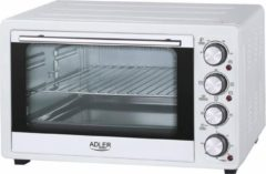 Witte Adler AD 6001 Electric oven, Capactity 35L, Power 1500W, 3 heating modes, Timer, White