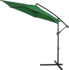 Kingsleeve Parasol inklapbaar aluminium groen inclusief slinger Ø 330 cm
