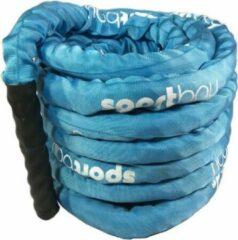 Blauwe Battle rope Sportbay met hoes (15 m)