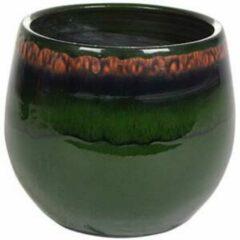 Donkergroene Ter Steege Pot Charlotte groen bloempot binnen 19 cm