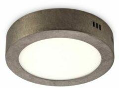 Witte Home sweet home LED plafondlamp Ska 17 rond - burned-metal