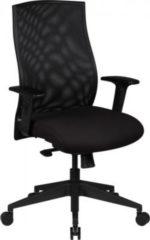 AMSTYLE Bürostuhl DAVID Bezug Stoff Schwarz Schreibtischstuhl Design Chefsessel Armlehne Drehstuhl Polsterung 120 kg