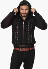 Banned Vest met capuchon -S- Pointy hood Zwart