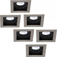 INTOLED Set van 6 stuks Dimbare LED inbouwspot Modesto 5 Watt Philips 2700K warm wit Kantelbaar