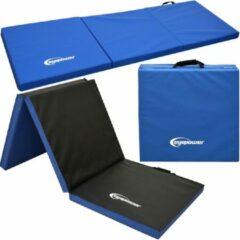 Blauwe Eyepower 5cm Dikke Gymnastiekmat voor Thuis - Opvouwbaar - 180x60 Gymnastiekmat - Zachte Vloermat voor Kinderen