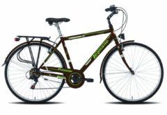 28 Zoll Legnano Portofino Herren Trekking Fahrrad 6-Gang 56cm, braun-grün