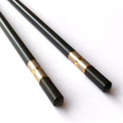 Zwarte ChopStore Kitami Gold Chopsticks - 27,3 cm - Zwart