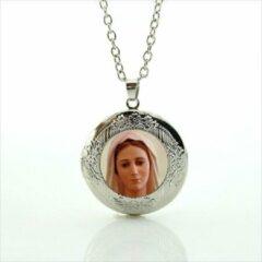 Zilveren Van Santen Fashion Charm Jewelry Ketting met hanger Maria Medjugorge nr. 2(medaillon)