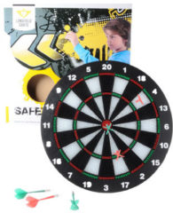 Zwarte Longfield Games KINDER SAFETY DARTBORD INCL. 6 DARTS