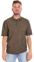 Bruine Polo Shirt Korte Mouw Les Copains 9U9016