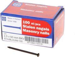 Klusgereedschapshop Stalen nagel bombe kop 50 x 2.5mm