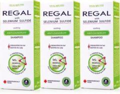 Rosa Impex 3 x REGAL KALMERENDE ANTI-ROOS Shampoo met Selenium Sulfide voor Elk Haartype Set3 600ml