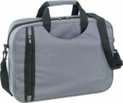 Merkloos / Sans marque Documententas/aktetas/werktas grijs 38 cm - Documenten tassen met verstelbare schouderband