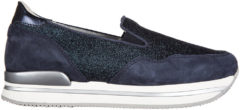 Blue Hogan Slip on donna in camoscio sneakers h222 pantofola