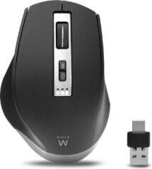 Zwarte Ewent EW3240 muis Rechtshandig RF draadloos + Bluetooth 2400 DPI