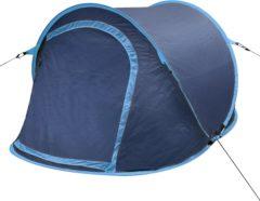 Marineblauwe VidaXL Pop-up tent 2 personen marineblauw / lichtblauw