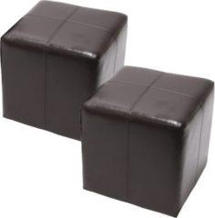 Heute-wohnen Sitzwürfel Hocker Sitzhocker Onex, LEDER, 36x36x36cm