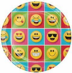 Rode Creative Converting Bordjes emojions (˜23cm, 8st)