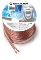 Transparante Speaker Wire SP-15 / 3000 Mini klos luidspr.kabel 2x1,5mm² transp.kop