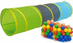 LittleTom Speeltunnel 200 ballen kruiptunnel 180x46cm kruiptunnel kindertunnel tent tunnel