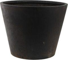 DBT - Conische pot - composiet Buitenpot - Plantenbak - Bloempot xxl Zwart - Winterhard - 56 x 43