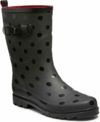 Merkloos / Sans marque Zwarte regenlaars met stippen voor dames - Regenlaarzen voor volwassenen 39