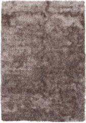 Diamond Soft Rond Fluweel Vloerkleed Taupe Hoogpolig - 160 CM Rond