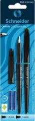 Zwarte Kalligrafieset Schneider 2 vulpennen met inktvulling