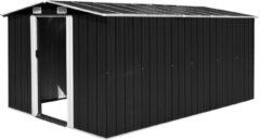 Zwarte VidaXL Tuinschuur 257x398x178 cm metaal antraciet