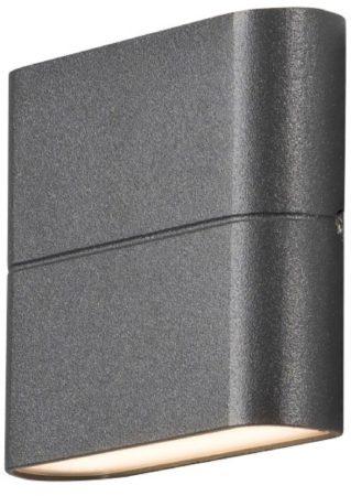 Afbeelding van Antraciet-grijze Konstsmide 7972 - Wandlamp - Chieri PowerLED 230V flush twinlight - 11x9cm - 2x 3W - warmwit 3000K - antraciet