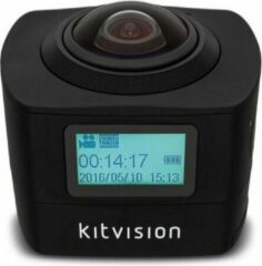 Zwarte Kitvision Action Camera Immerse DUO 360 Degree Dual Lens Black