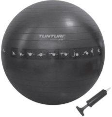 Blauwe Tunturi Fitnessbal - Gymball - Swiss ball - 65 cm - Anti burst - Incl. pomp - Zwart